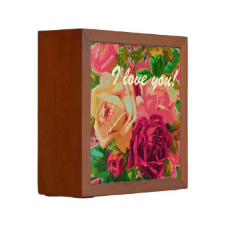Red & Yellow Roses Desk Organisers