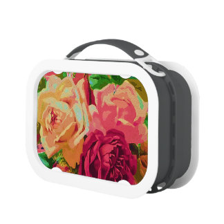 Red & Yellow Roses Lunch Boxes