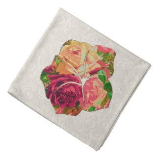 Red & Yellow Roses Motif Bandannas