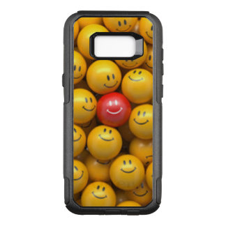 Red Yellow Smiley Faces Pattern Design OtterBox Commuter Samsung Galaxy S8+ Case