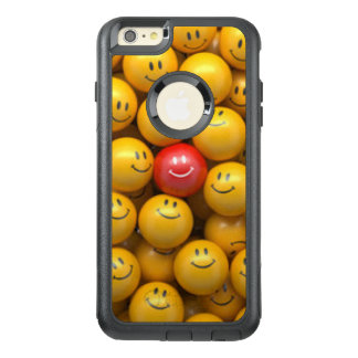 Red Yellow Smiley Faces Pattern Design OtterBox iPhone 6/6s Plus Case