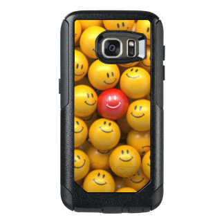Red Yellow Smiley Faces Pattern Design OtterBox Samsung Galaxy S7 Case
