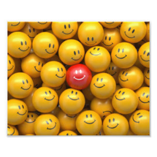 Red Yellow Smiley Faces Pattern Design Photograph