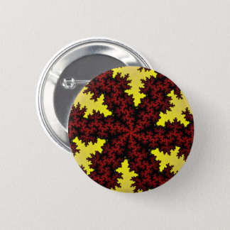 Red Yellow Snowflake Button