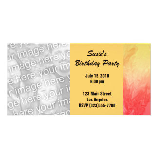 Red Yellow Texture pattern Photo Card
