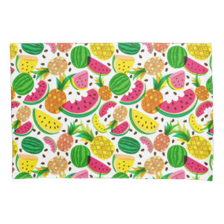 Red & Yellow Tropical Fruit Pattern Pillowcase