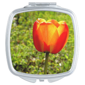 Red & Yellow Tulip Compact Mirror