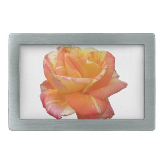 Red Yellow Variegated Rose Belt Buckle