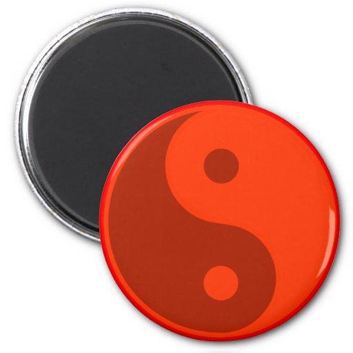 Red Yin Yang Spiritual Energy Balance Fridge Magnet