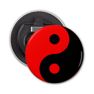 Red Yin Yang Symbol Bottle Opener