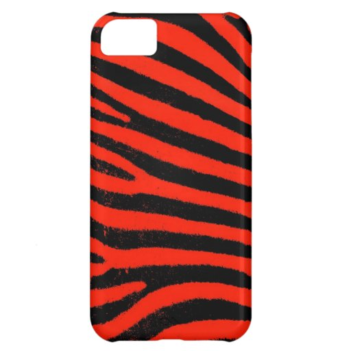 Red Zebra  Barely There™ iPhone 5 Case