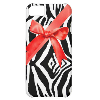 Red Zebra bow Iphone Case iPhone 5C Case