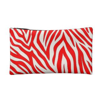 Red zebra cosmetic bag