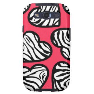 Red zebra hearts BlackBerry Samsung Galaxy Case Galaxy S3 Case
