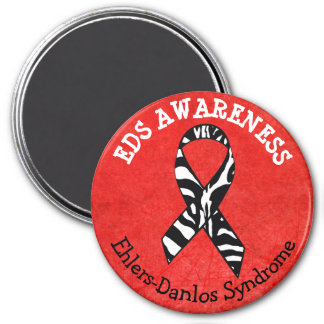 Red Zebras EDS Ehlers-Danlos syndrome Magnet