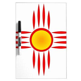 Red Zia Sun God Dry Erase Board