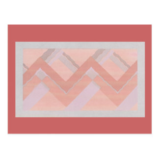 Red Zig Zags Postcards