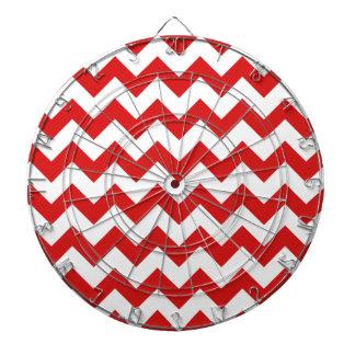Red Zigzag Stripes Chevron Pattern Dart Boards