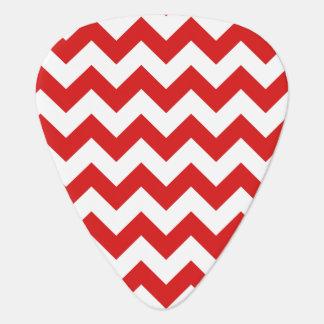 Red Zigzag Stripes Chevron Pattern Plectrum