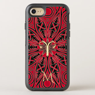 Red Zodiac Sign Aries Mandala Monogram iPhone Case
