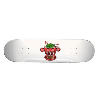Red zombie monkey 20.6 cm skateboard deck