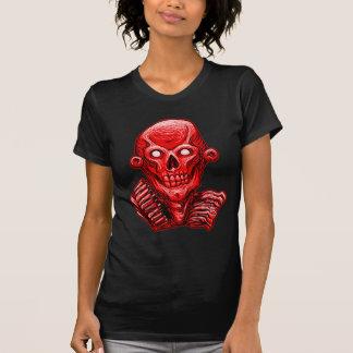 Red Zombie Skull Head Tees