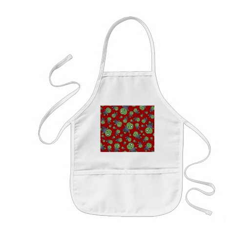 Red zombies aprons