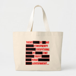 Redacted Trust Your Government Everything Fine Jumbo Tote Bag
