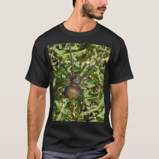 Redback Spider On Green Grass, T-Shirt