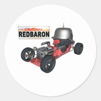 RedBaron Classic Round Sticker