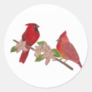 Redbirds Round Sticker