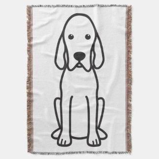 Redbone Coonhound Dog Cartoon
