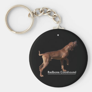 Redbone Coonhound Key Ring