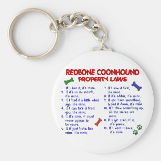 REDBONE COONHOUND Property Laws 2 Key Ring