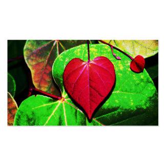 Redbud Heart Leaf Business Card Templates