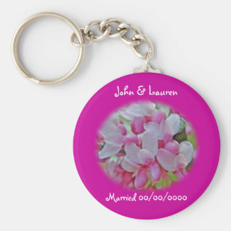 Redbud Tree Blossoms Items Basic Round Button Key Ring
