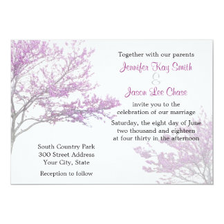 Redbud Tree Wedding Invitation