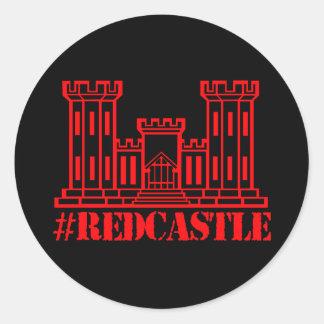 #Redcastle Combat Engineer (Large Castle) Round Sticker