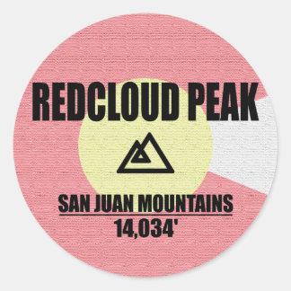 Redcloud Peak Classic Round Sticker