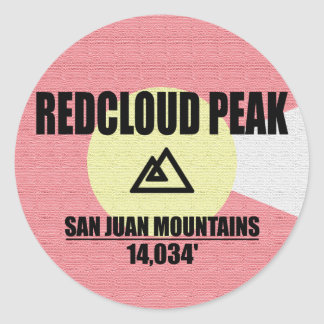 Redcloud Peak Round Sticker