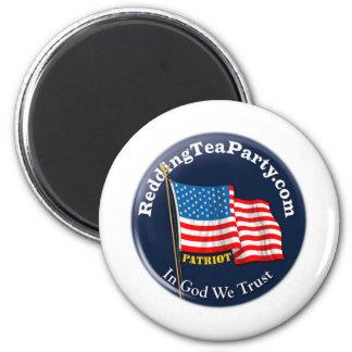 Redding Tea Party Refrigerator Magnet