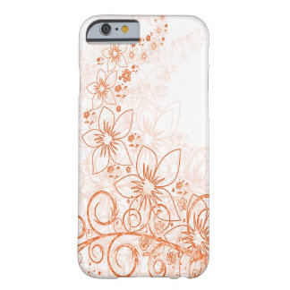 Reddish-Brown Flower Case Barely There iPhone 6 Case