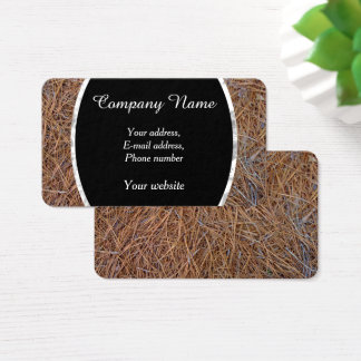 Reddish brown pine straw needles photo business card