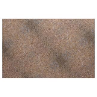 Reddish brown pine straw needles photo fabric