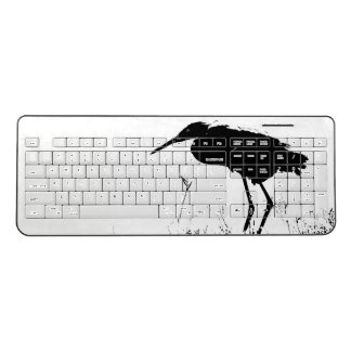 Reddish Egret Bird Animal Coast Wireless Keyboard