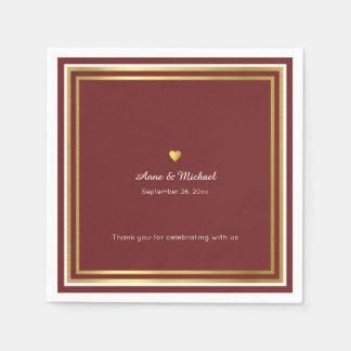 reddish wedding reception party standard napkins disposable serviette