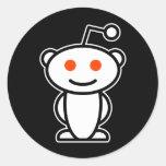 Reddit Alien Classic Round Sticker