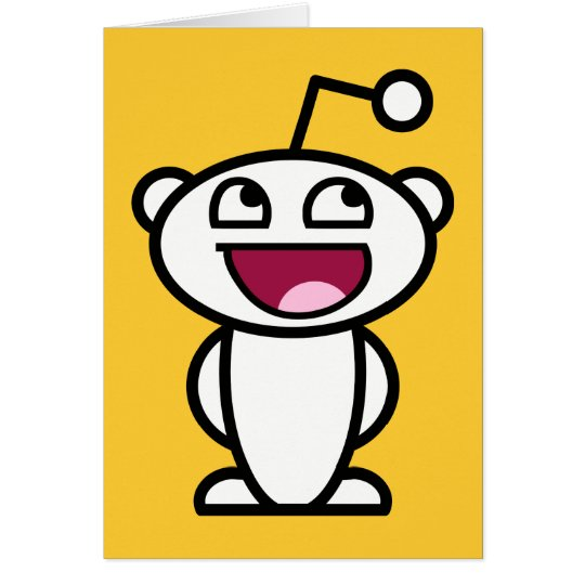 Reddit Awesome Face Greeting Card