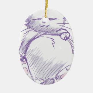 Reddit cat christmas ornament