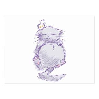 Reddit cat postcard